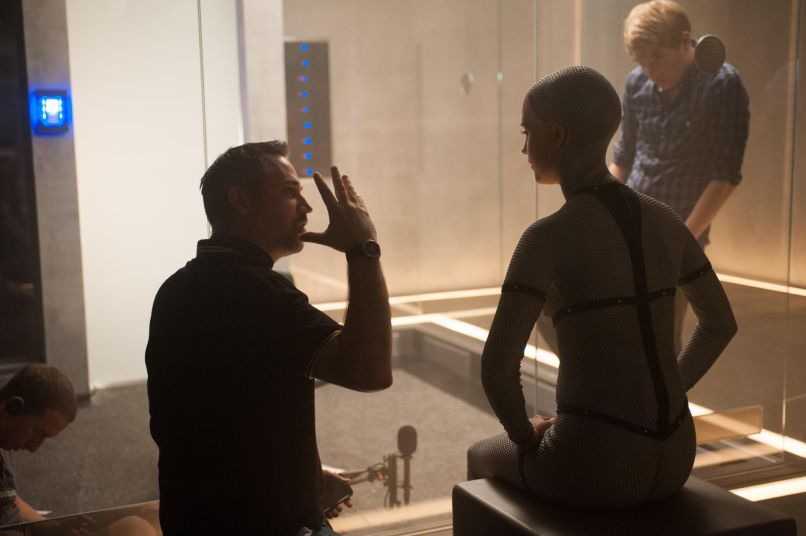 alex garland domhnall gleeson and alicia vikander in ex machina 2015 large picture Alex Garland on Devs and the Zen State of Video Games