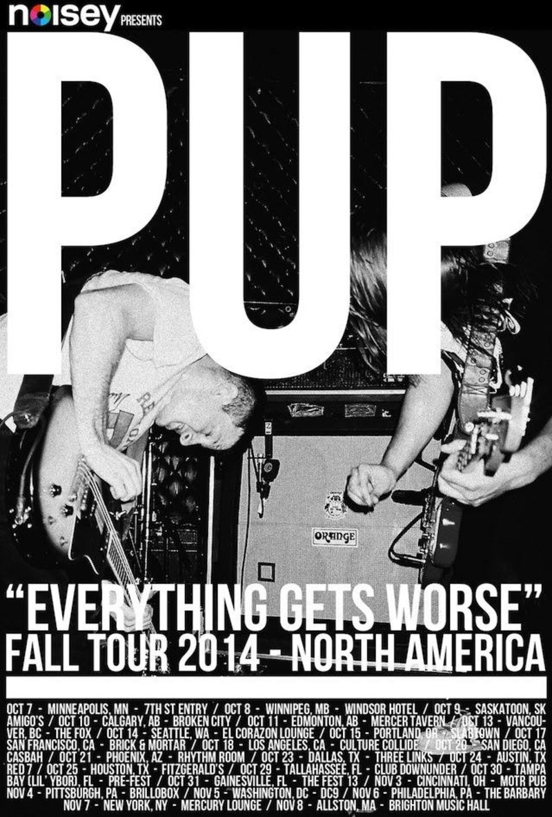 pup tour poster A Year in PUP, or How to Become a Buzz Band in 365 Days