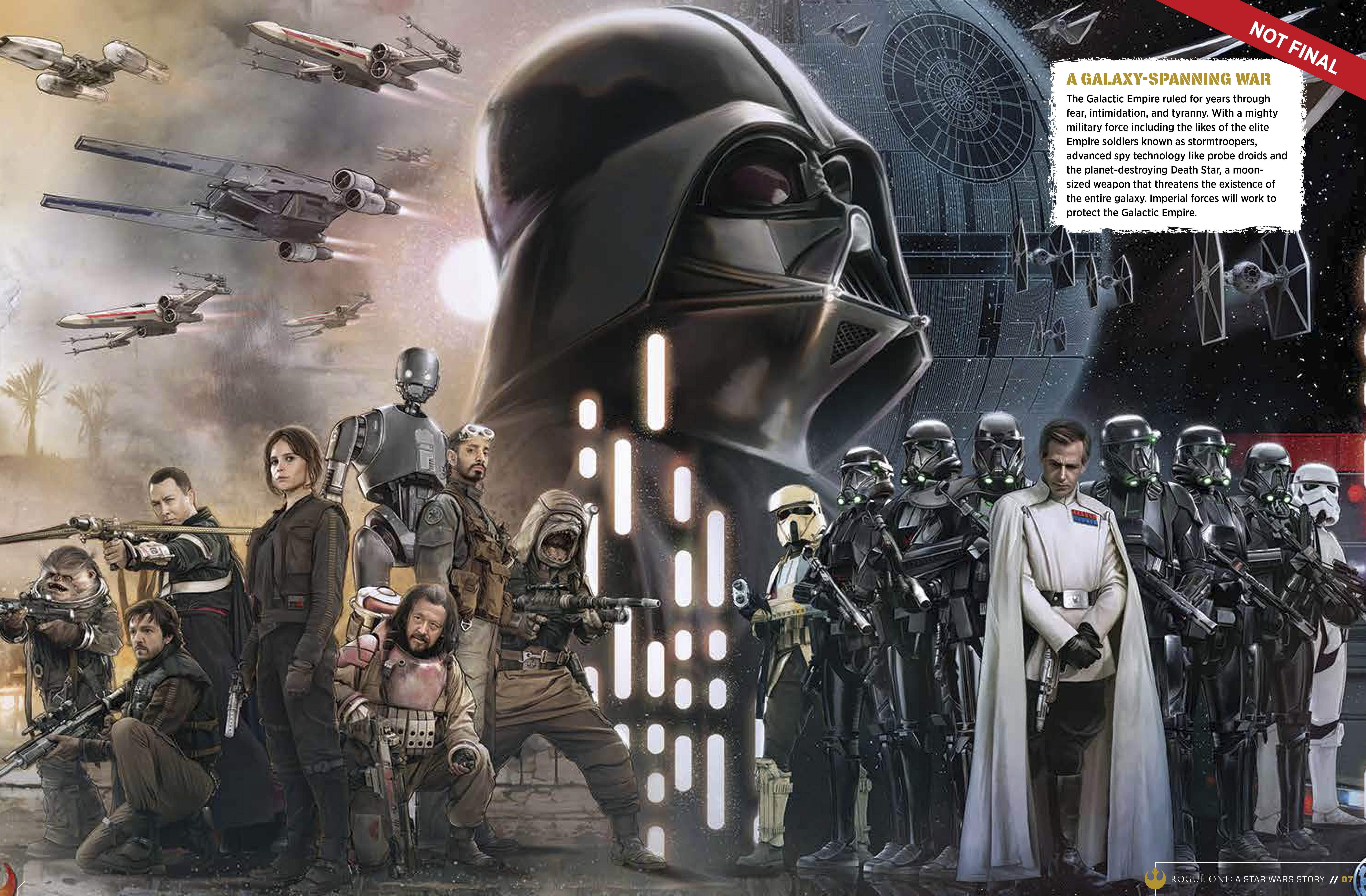 9781942556411 il 10 a5e44 Star Wars: Rogue One character details, new ships revealed in leaked visual guide