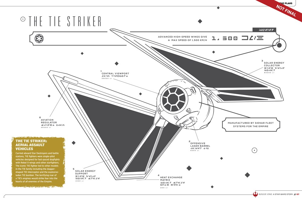 9781942556411 il 6 c2d35 Star Wars: Rogue One character details, new ships revealed in leaked visual guide