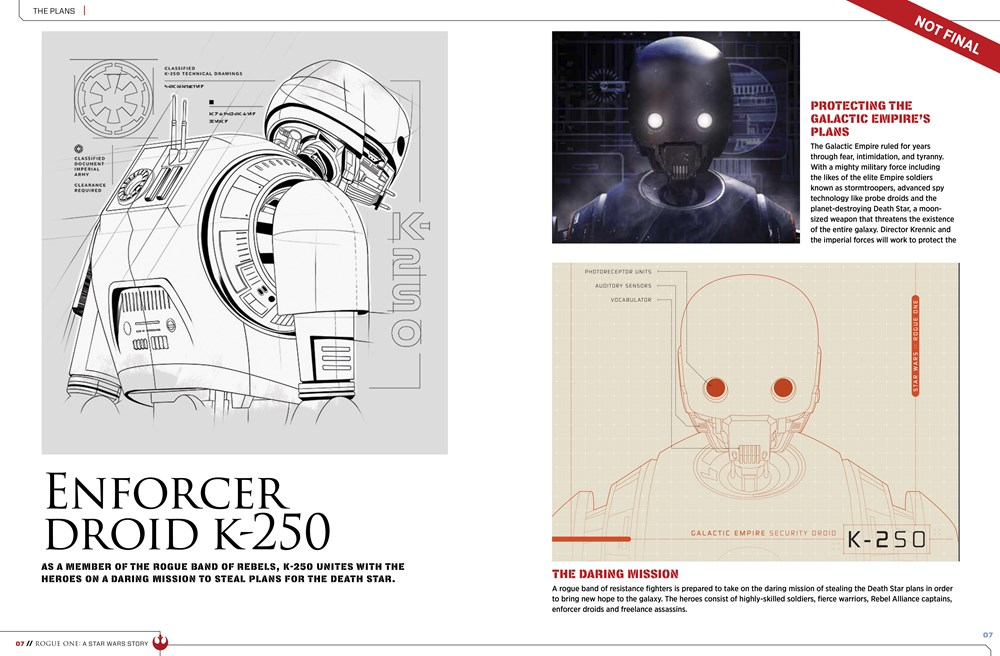 9781942556411 il 9 443cf Star Wars: Rogue One character details, new ships revealed in leaked visual guide