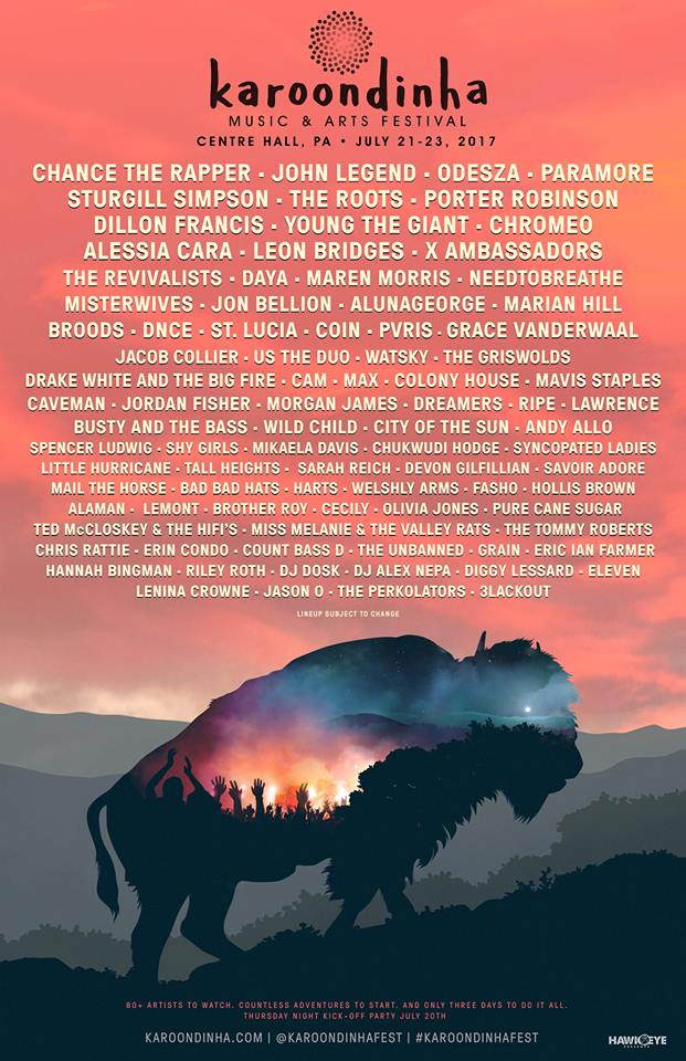 karoondinha1 Chance the Rapper, Paramore, Odesza lead inaugural lineup for Pennsylvanias Karoondinha Festival
