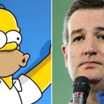 Homer Simpson and Ted Cruz
