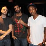 "Noah ""40"" Shebib, Drake, and Pharrell"