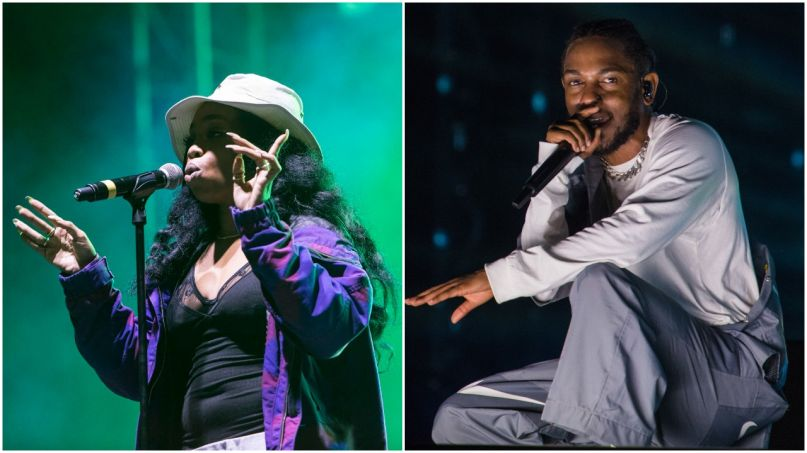 SZA and Kendrick Lamar, photos by Philip Cosores and David Brendan Hall