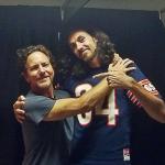 Eddie Vedder with Sergio Vedder