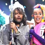 Wayne Coyne and Miley Cyrus