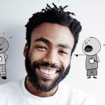 Donald Glover Time's Up PSA Rashida Jones Cartoon