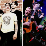 Red Hot Chili Peppers and Red Hot Chili Pipers, photo via Tone Deaf