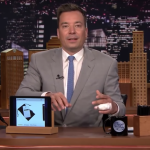Jimmy Fallon in the middle of telling the same joke he's done for years