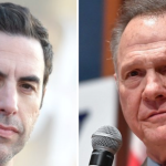 Sacha Baron Cohen and Roy Moore