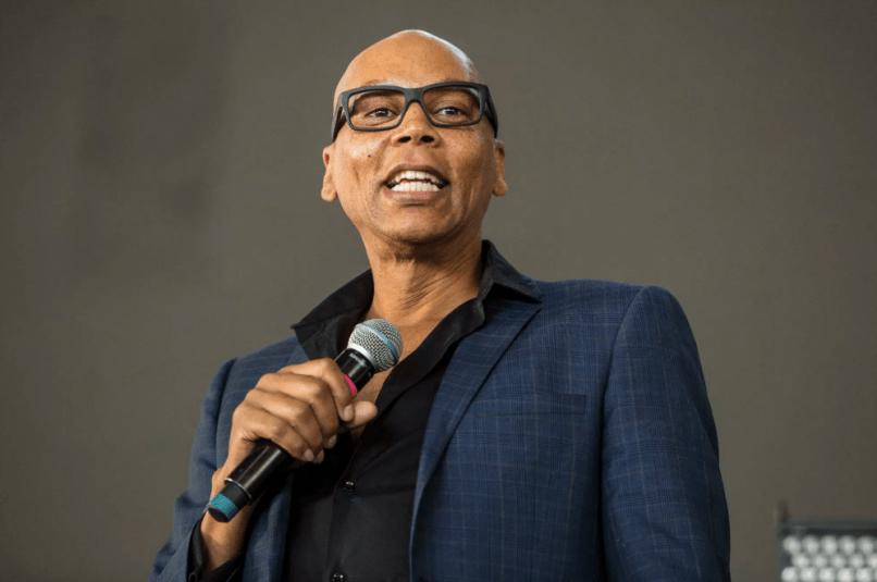 RuPaul Charles talk show drag race suit microphone