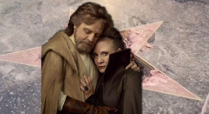 Donald Trump Hollywood Walk of Fame Star Carrie Fisher Mark Hamill Star Wars