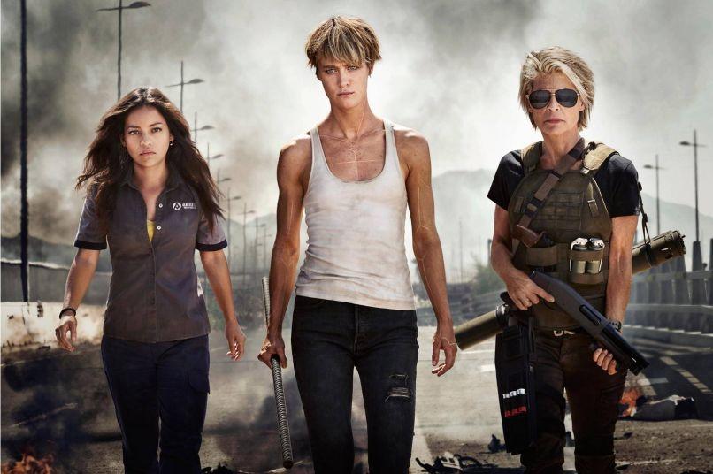 Terminator 2019, Linda Hamilton, Mackenzie Davis, Natalia Reyes