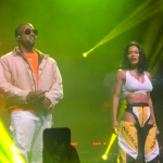 "Video Kanye West and Teyana Taylor performing in San Francisco ""Hurry"""