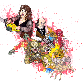 Horror Movie Sequels, artwork by Cap Blackard