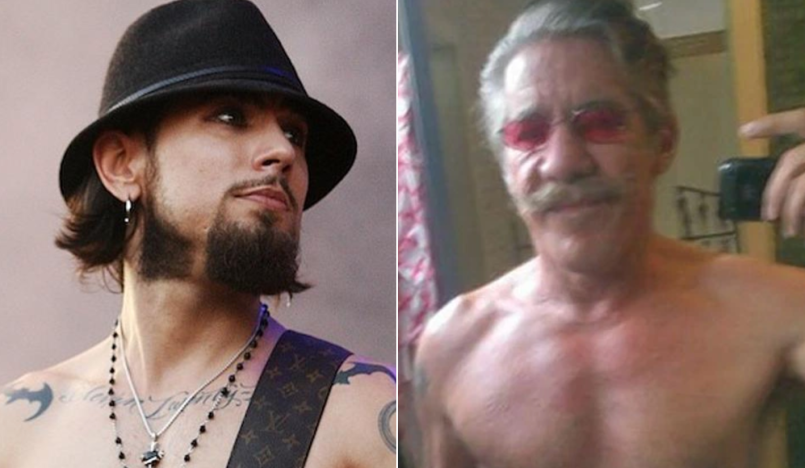 Dave Navarro and Geraldo Rivera