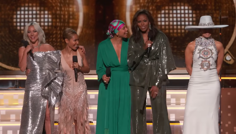 Michelle Obama 2019 Grammys texts from mom funny