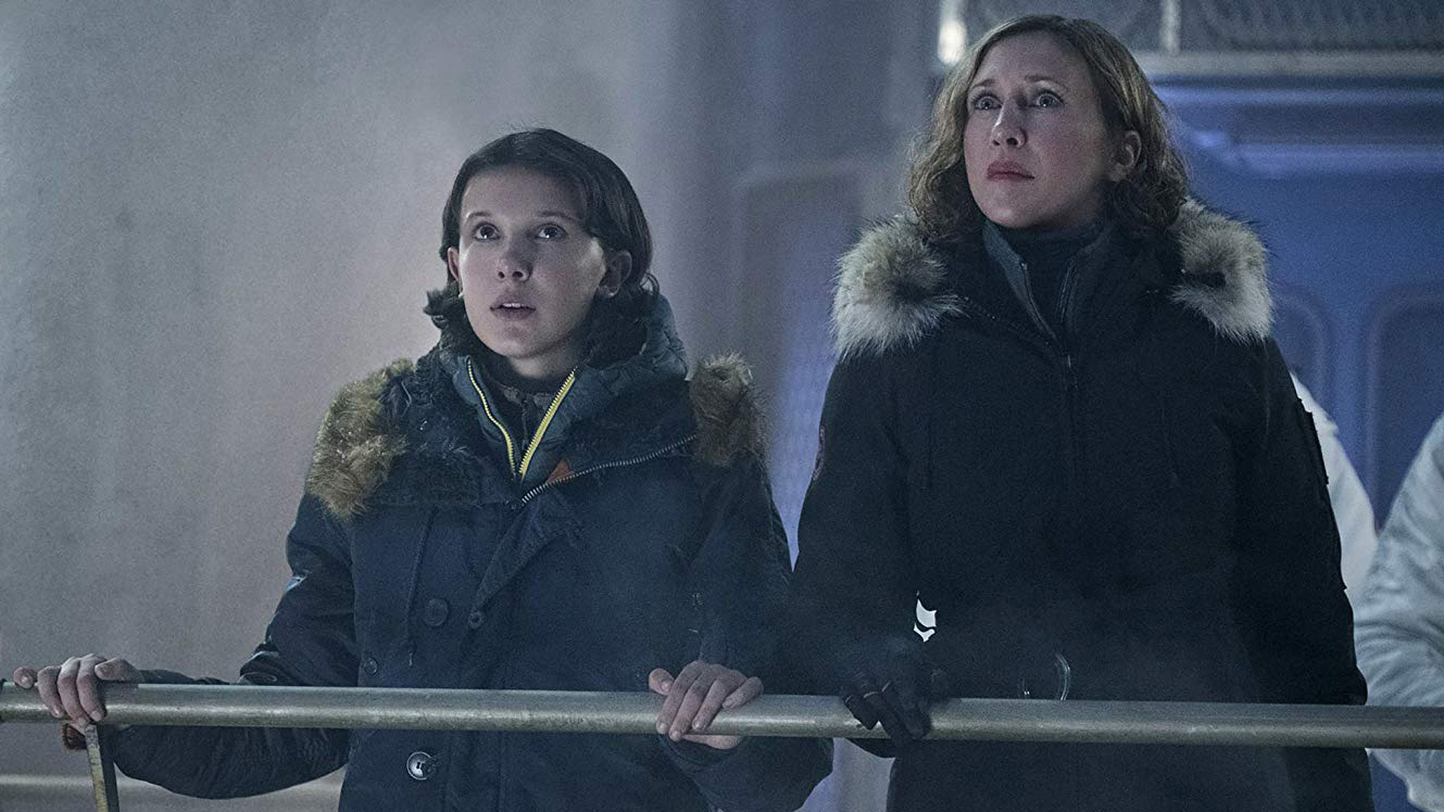 Millie Bobby Brown and Vera Farmiga in Godzilla: King of the Monsters