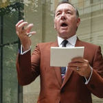 Kevin Spacey recites poetry at Palazzo Massimo