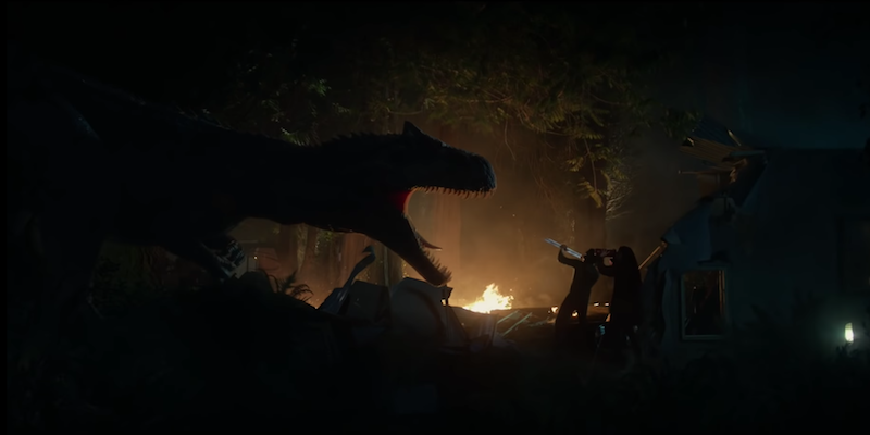 Jurassic world battle at big rock short film video watch