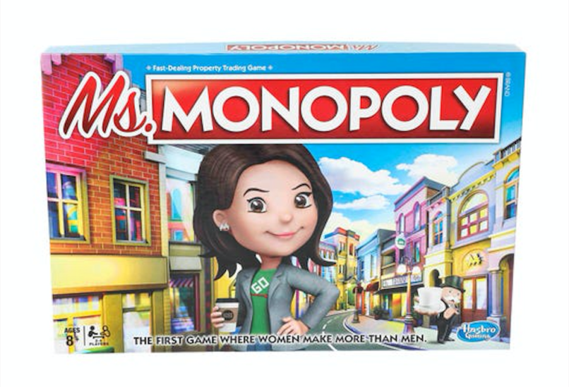 Monopoly female women new board game Ms Monopoly, photo via Hasbro