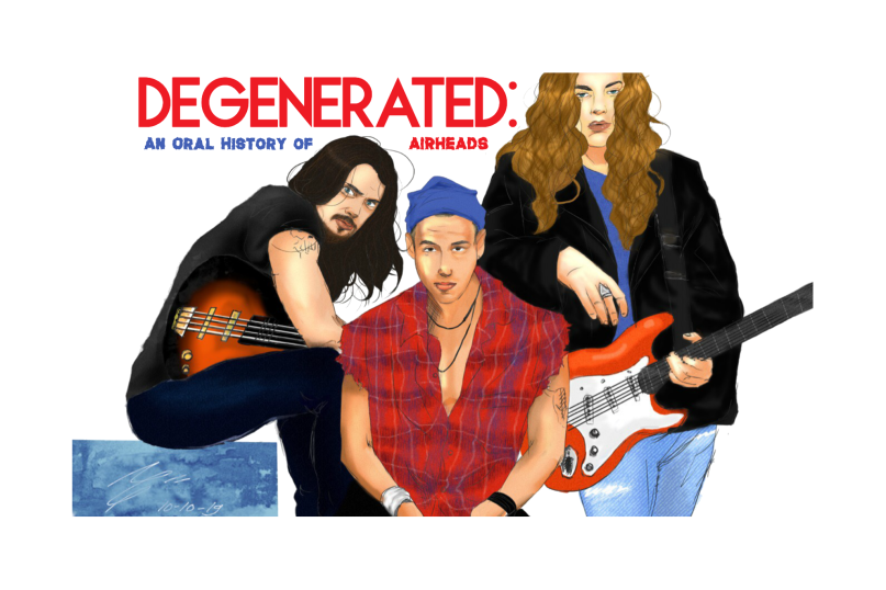 Degenerated: An Oral History of Airheads, artwork by Noelle Garcia