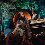 Billie Eilish performs at Steve Jobs Theater