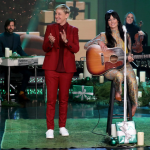 Kacey Musgraves on Ellen Christmas Makes Me Cry interview Michael Rozman Warner Bros.