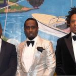 Kanye and JAY-Z with Diddy, photo via JAY-Z Daily