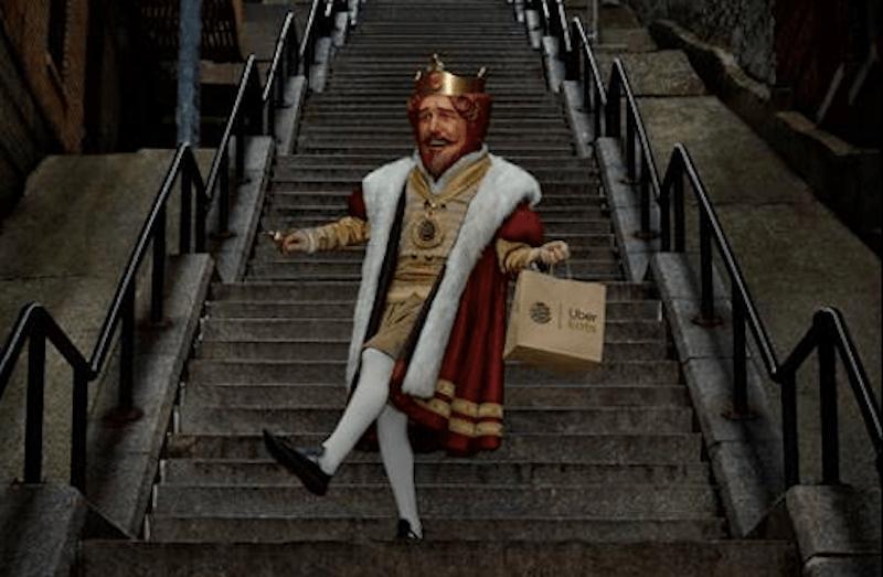 Burger King Free Whoppers Joker Stairs Uber Eats