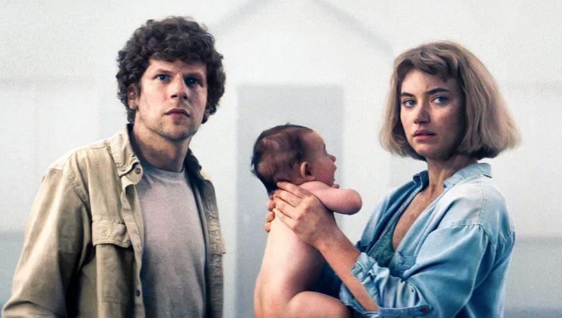 Jesse Eisenberg and Imogen Poots vivarium trailer movie