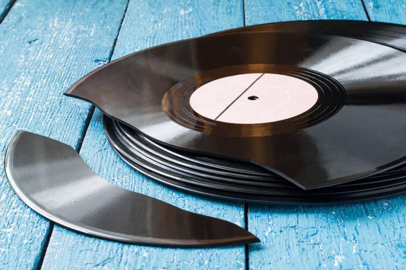 Broken vinyl, photo by Shutterstock