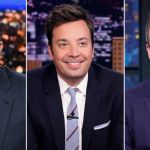 Stephen Colbert, Jimmy Fallon, and Seth Meyers