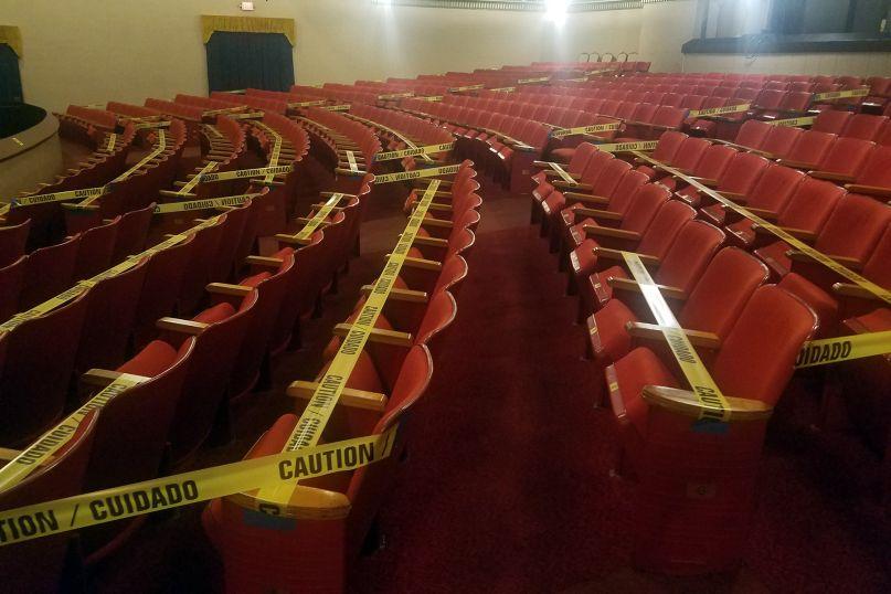 Concert venue empty seats