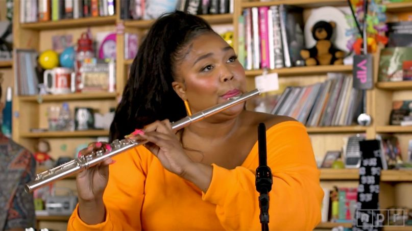 Lizzo musical instrument mental health study Spotify podcast Where Is My Mind? ukulele (NPR)