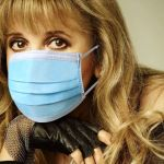 Stevie Nicks with mask
