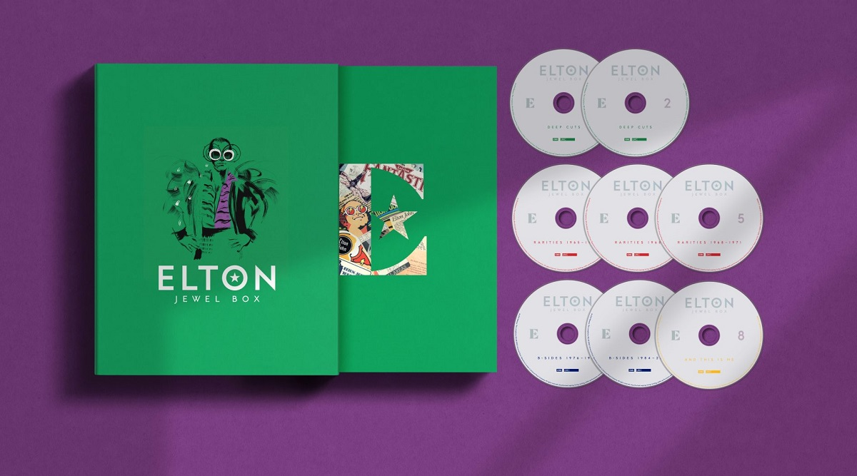 elton john jewel box set  Elton John Announces Enormous Career Spanning Box Set, Shares Previously Unreleased Sing Me No Sad Songs: Stream