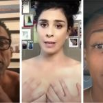 Chris Rock, Sarah Silverman, Tiffany Haddish, celebrities voting PSA vote naked ballot nude (photos via YouTube)