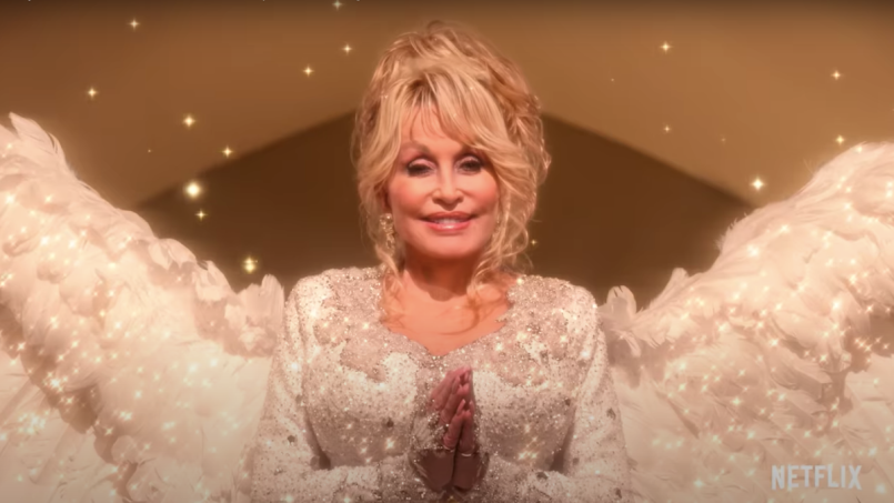 Dolly Parton's Christmas on The Square (Netflix) first trailer christine baranski