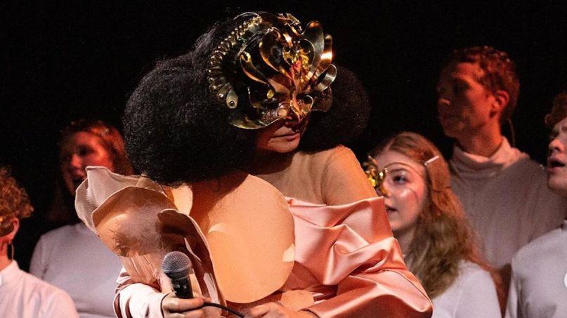 Björk Cosmogony choir Hamrahlid new song stream music, photo via artist's Instagram