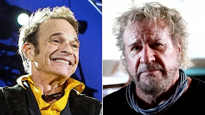 David Lee Roth Sammy Hagar Van Halen tour