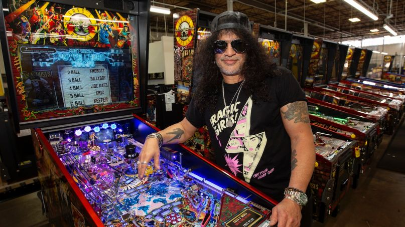 Slash Talks GNR Pinball Machines