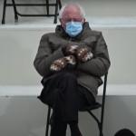 Bernie Sanders inaguration mittens vermont joe biden