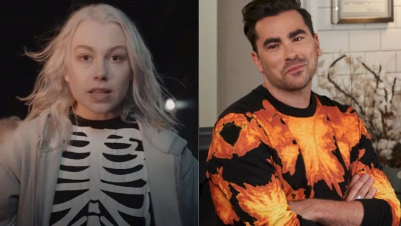 Phoebe Bridgers and Dan Levy