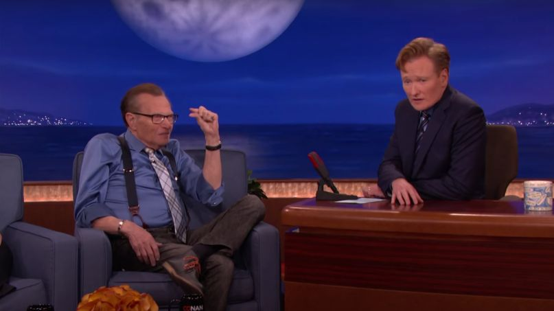 Larry King Once Told Conan He Wanted to Be Frozen After He Died