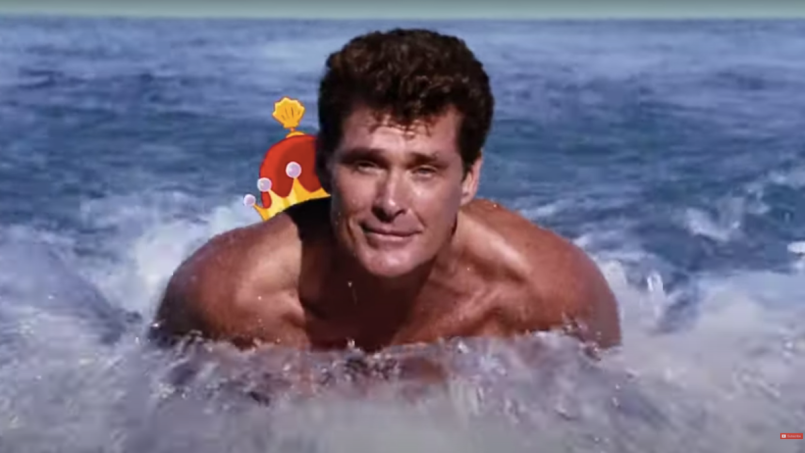 david hasselhoff auction statue spongebob movie