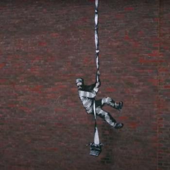 banksy bob ross reading prison graffiti artwork create escape